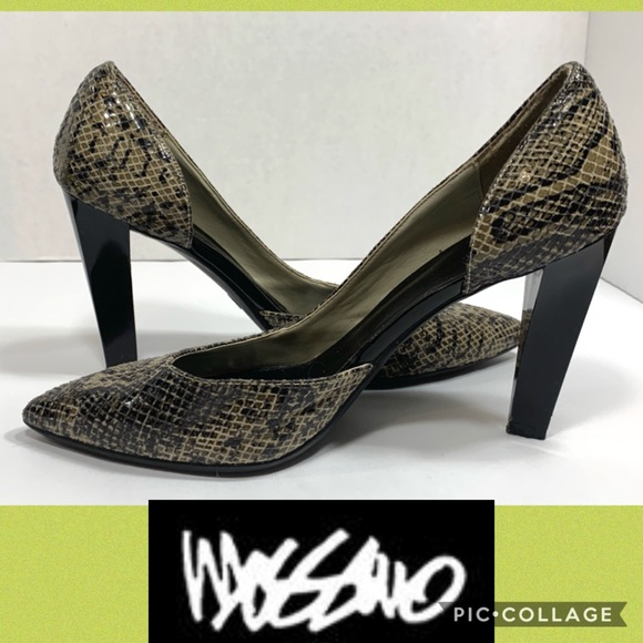 Mossimo Supply Co. Shoes - Mossimo Snake Skin Pointed Heels
